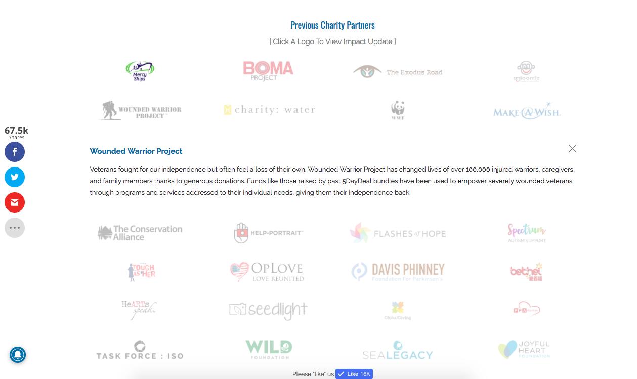 5DayDeal Charity Partner Copy