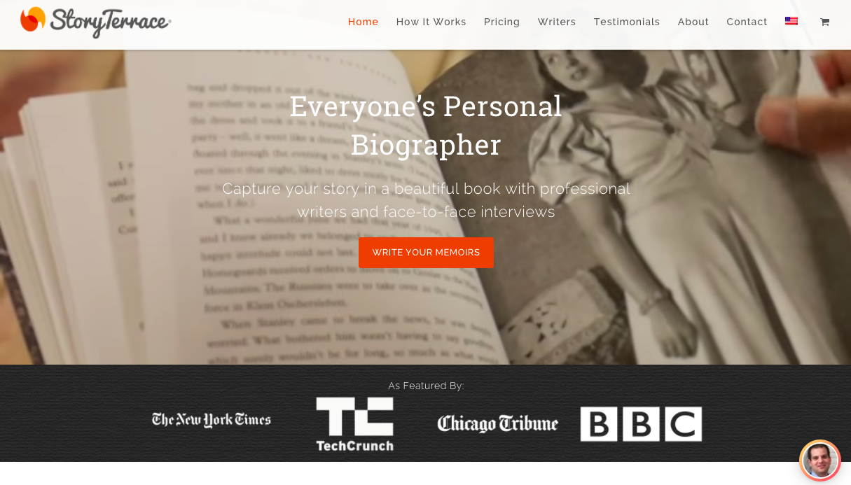 StoryTerrace Homepage Senior Writer