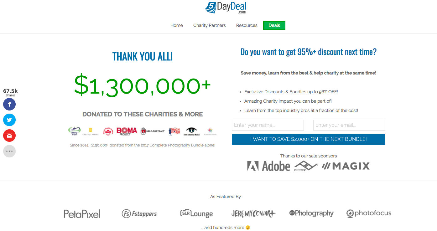 5DayDeal Home Page